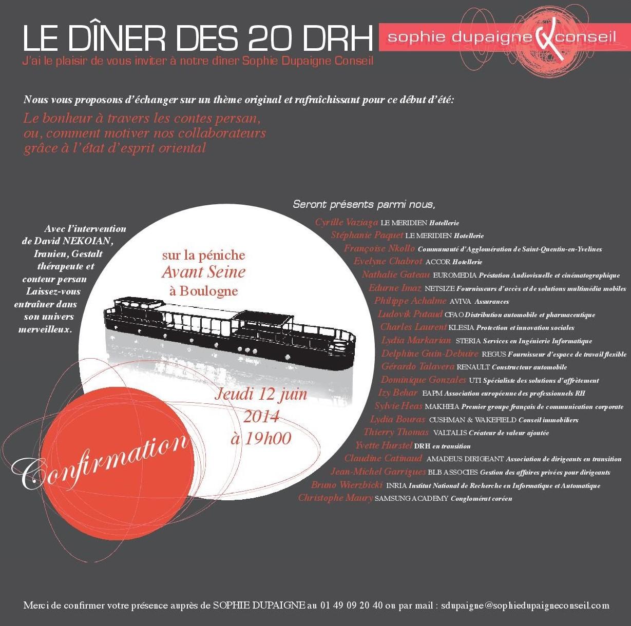 Le diner des 20 DRH juin 2014 https://davidnekoian.com/contes-persans/
